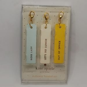 kate spade Boss Lady Planner Charm Set